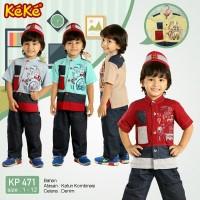 KP 471 Size 3 baju koko anak Pusat grosir busana muslim keke original