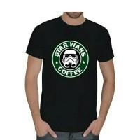 T-shirt / Kaos BIG SIZE XXXL-XXXXL Star Wars Coffee & StarBuck Coffe