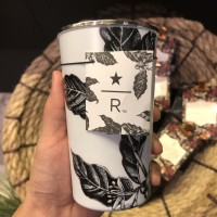 Starbucks Tumbler Double Wall Stainless Steel Reserve Coffee - Floral