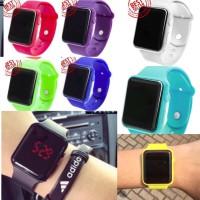 LED Watch - Jam Tangan Pria dan Wanita Apple Imitation Putih Hitam