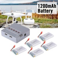 [SX] Lipo Battery 1200mAh 5x Charger Syma X5HW X5HC Drone Quadcopter