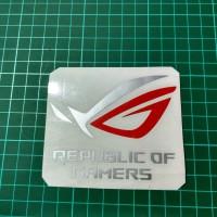 Sticker Cutting / Stiker Republic of Gamers (ROG) Mix