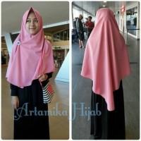 Khimar Syari Pet Antem Simple Jilbab Hijab Wolfis Tebal Panjang Bergo