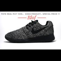 Sepatu Nike Roshe Run Rajut Dark Oreo For Men Impor Vietnam