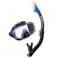 Mask Tusa Visio Tri-Ex Adult Combo UC-3125QB Blue Alat Selam Diving