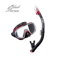 Mask Tusa Visio Tri-Ex Adult Combo UC-3125QB Red Alat Selam Diving