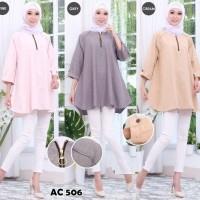 Atasan Blouse Linen Rajut Extra Large Fashion Wanita Baju Busana Murah
