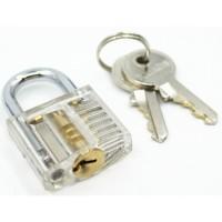 Gembok Transparan Kecil Kunci Motor Kunci Engsel Pintu Unik Bening