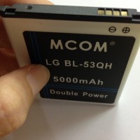 Baterai LG BL-53QH LG Optimus L9 Optimus 4x Hd P760 P765 5000Mah Mcom