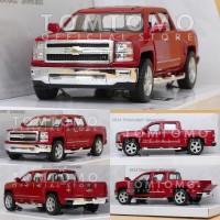 Diecast Chevrolet Silverado Pickup Miniatur Mobil Mainan Anak Kinsmart