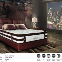 Central Kasur Spring Bed Titanium 100x200 - Full Set Armani
