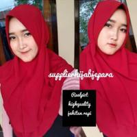 [PROMO] Hijab Rubiah Nopet Tali 2 Layer Cantik realpict Bubble crepe