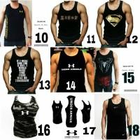 Jual Kaos Singlet Gym fitness underarmor Under armour baju tanktop cowok Murah