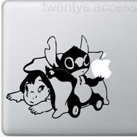 stiker lilo and stitch sticker laptop stiker cutting