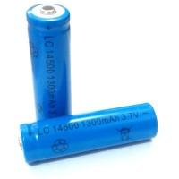 Baterai AA 3.7V 1300 mAh Li-ion LC 14500 Recharge Batere A2 Senter LED