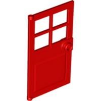 LEGO PART 60623 - 4583717 - RED - DOOR 1X4X6 PANES & STUD HANDLE