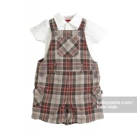Torio Classic Green Checkered Dungaree T2909