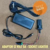 Power Supply Adaptor 220V AC to 12V DC 5A Socket Lighter Mobil