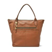 tas kulit fossil fiona sydney brown shopper tote satchel ori nwt