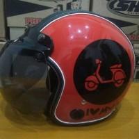 Helm Klasik Helm Retro Bogo SNI Klasik Love Vespa Merk QRO