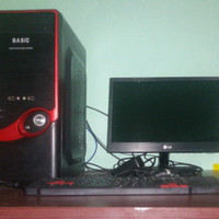1 set PC rakitan dan monitor LG