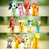 Jual My Little Pony Figure PVC Hiasan Kue 1 set 12pcs Murah