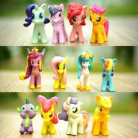 My Little Pony Figure PVC Hiasan Kue 1 set 12pcs