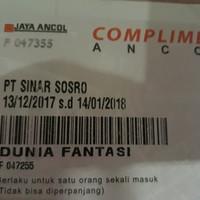 Tiket/ Voucher masuk Dunia Fantasi (DuFan) murah