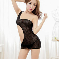 ACL0159 - Lingerie Chemise Transparan Sexy Sleepwear Pakaian Dalam