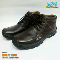Sepatu Boots Kickers Kulit Asli Casual Formal Santai Touring Trendy