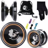 Magic Yoyo M001 Silencer Aluminium termasuk Gloves+5String+Pouch