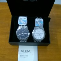 Jam tangan pria analog Alba (vx43-x080) stainless steel