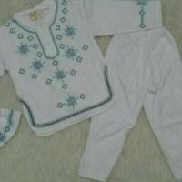 MURAH! Baju koko bayi / muslim laki laki / koko anak bayi putih bordir