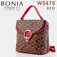 harga Tas Bag Ransel Branded Bonia W5475 5474 3 Styles In 1 Mini Merah / Red Tokopedia.com