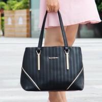 tas handbag jinjing elle skii SIMPEL berkualitas hitam polos wanita pu