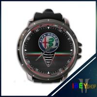 Jam Tangan Custom Alfa Romeo Logo Italian Car