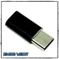 Murah Taffware Plastic Fitting Micro USB to USB 3.1 Type C Adapter Co