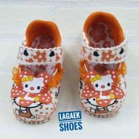 Sepatu anak perempuan 1 2 3 tahun orange Renda karakter BUNYI SKU-DERO