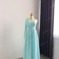 Gaun Bridesmaid [Paket 3pcs] - Baju Dress Pesta Cantik Silver Murah