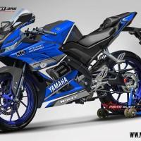 Decal Stiker Yamaha R15 V3 Blue Elegan