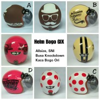 Helm Bogo GIX Terbaru-Helm Polkadot Terbaru-Helm Bogo Sakura 2017 Baru