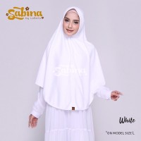 Hijab Bergo Daily Sabina White Murah M