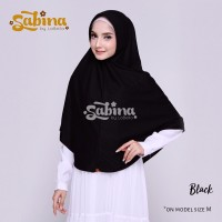 Hijab Bergo Daily Sabina Black Murah S
