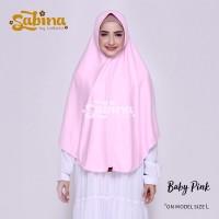 Hijab Bergo Daily Sabina Baby Pink Murah L