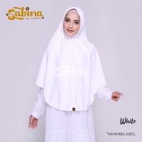 Hijab Bergo Daily Sabina White Murah XL