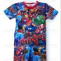 setelan anak avengers 2- baju celana anak gambar kartun printing