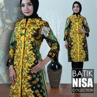 Harga baju batik dress terusan wanita flower yellow katun cap malam | Pembandingharga.com