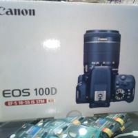 kamera canon 100D kit 18-55 stm