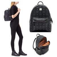 Tas Ransel MCM Original / MCM Stark Small Backpack Visetos Black