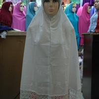 Perlengkapan haji dan umroh /jilbab katun renda /bergo instan jumbo